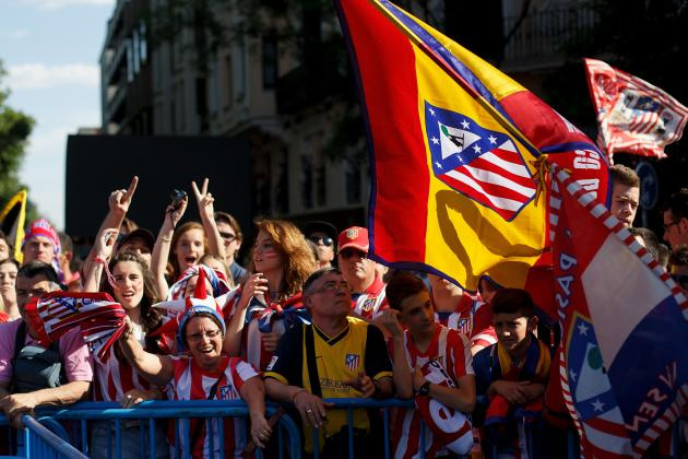Atletico Madrid Parade 2014: Twitter Reaction, Photos and More