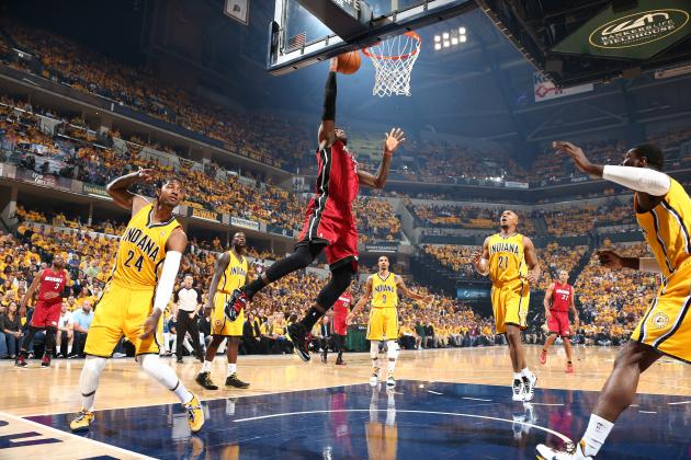 LeBron James Throws Down Alley-Oop from Mario Chalmers in Game 1 vs. Pacers