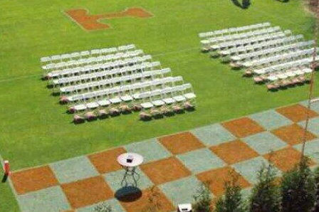 Tennessee Football Fans Paint Football Field for the Ultimate Vols Wedding