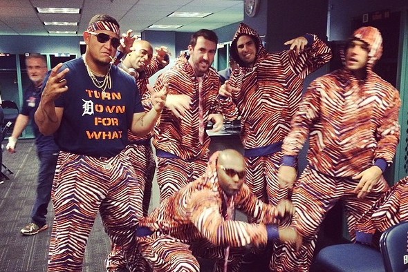 Detroit Tigers Dressed in Full Zubaz After Beating Red Sox