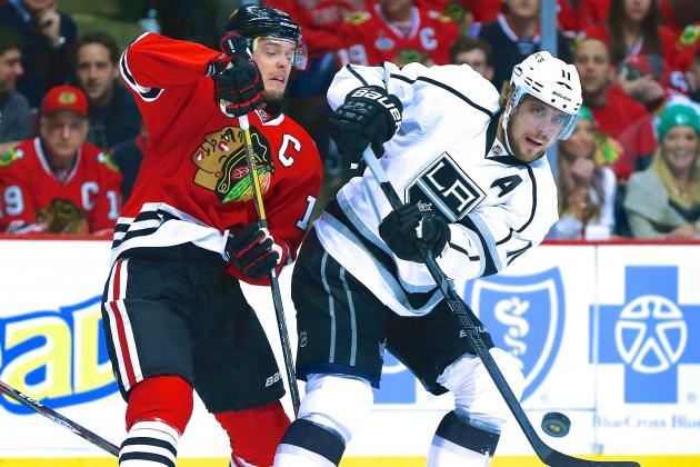 Kings Need Anze Kopitar to Answer Chicago's Jonathan Toews in WCF Star Showdown