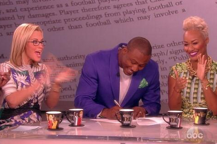 Brandon Marshall Signs Contract Extension with Chicago Bears on 'The View'