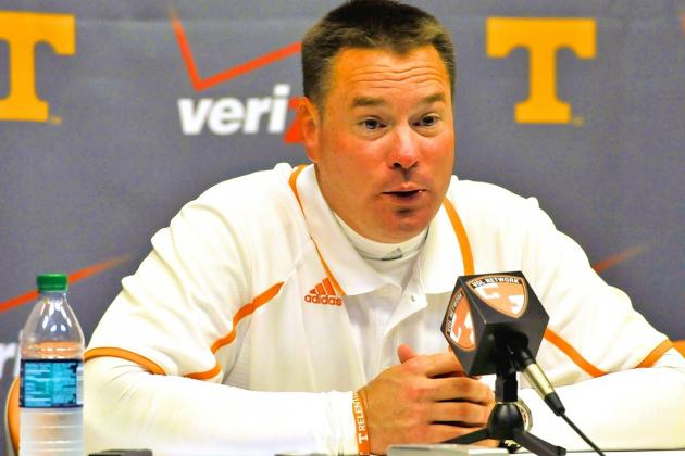 Tennessee's Butch Jones: 'We're Still Years Away from Being Where We Need to Be'