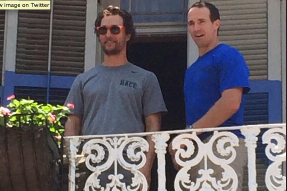 Drew Brees Hangs with Matthew McConaughey, Brad Pitt and Kenny Chesney in NOLA