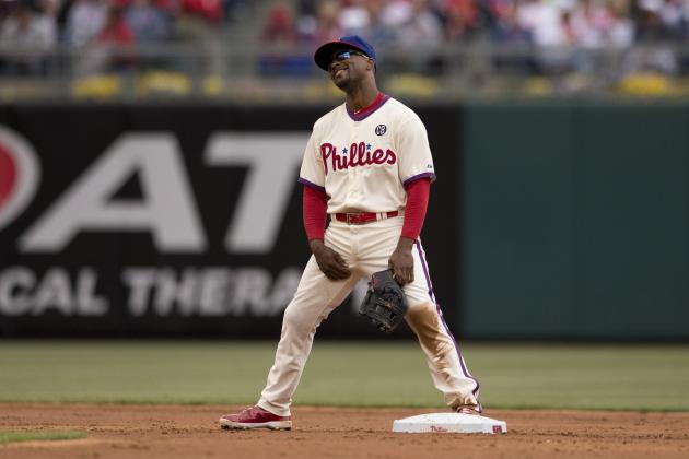 Phillies' Jimmy Rollins Nearing 2nd Place on Franchise Hits List