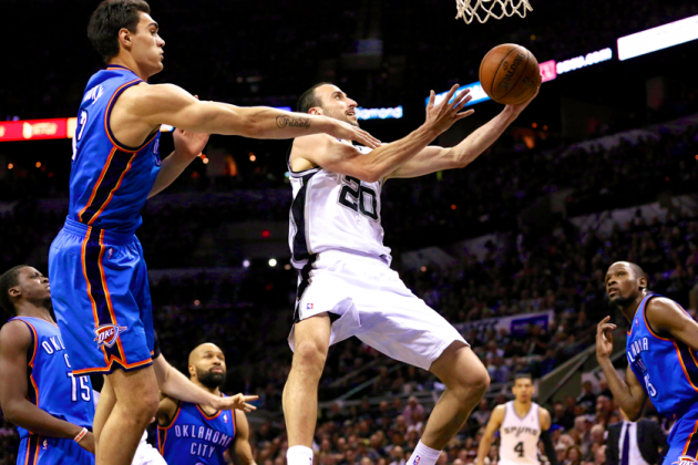 Thunder vs. Spurs: Game 1 Score and Twitter Reaction from 2014 NBA Playoffs