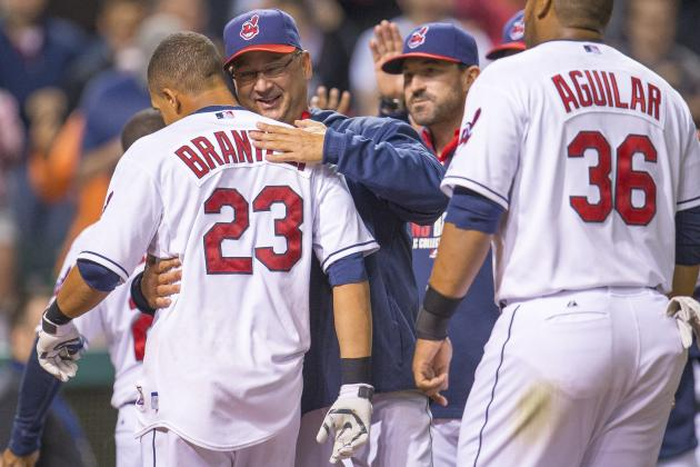 Brantley's HR Gives Cleveland Indians' 5-4 Victory over Tigers in 10 Innings