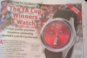 Arsenal Selling Limited-Edition Watches to Celebrate FA Cup Triumph