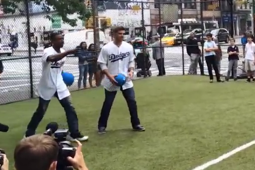 Los Angeles Dodgers Players Destroy Children in Dodgeball