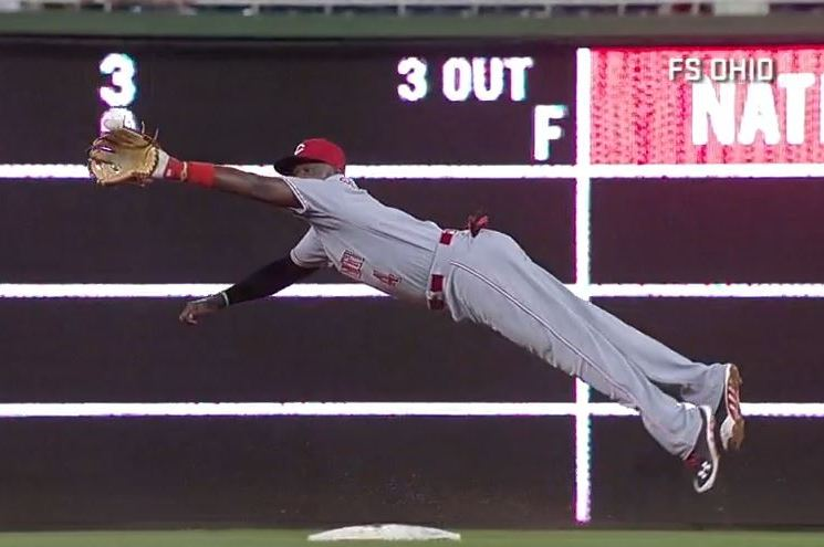 Reds' Brandon Phillips and Billy Hamilton Make Stunning Game-Saving Catches