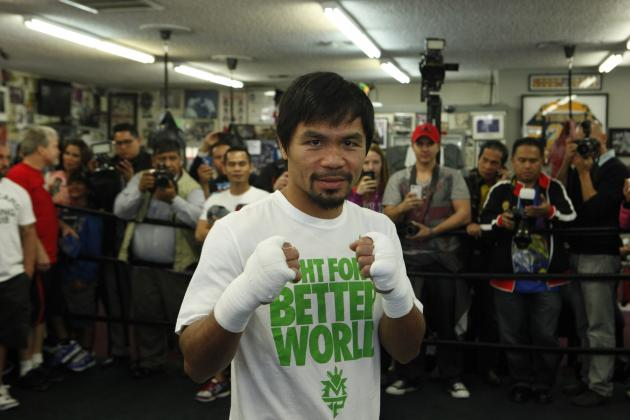 Manny Pacquiao Reportedly Signs Contract Extension with Top Rank Through 2016