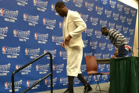 Heat's Dwyane Wade Wears Interesting Post-Game Outfit After Game 2 vs. Pacers