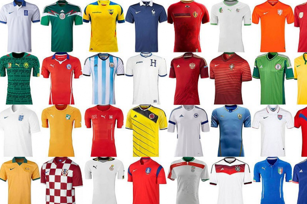 World Cup 2014 Kits: In Pictures