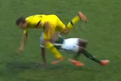 RED CARD: Alvas Powell Sent Packing for a Brutal Challenge on Barson