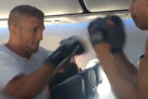 UFC 173 Bantamweight Title Challenger TJ Dillashaw Hits Pads in Strange Places