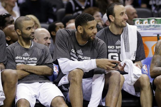 Spurs' Big Three Ties Lakers' Trio for Most Playoff Wins in NBA History