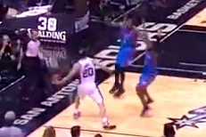 Manu Ginobili Sets Up Danny Green Trey with Ridiculous Cross-Court Pass