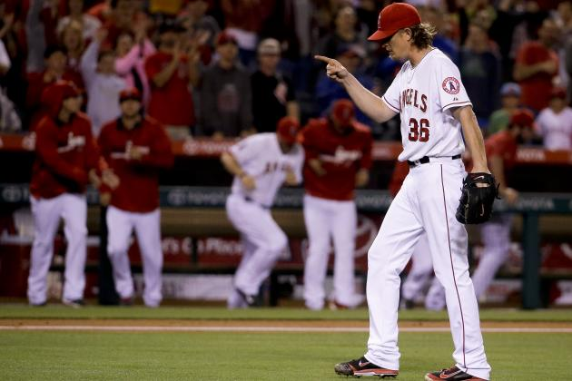 Angels' Jered Weaver Climbs to 3rd on All-Time Franchise Strikeout List