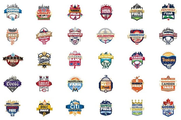 Redditor Redesigns Logos for All 30 Major League Baseball Stadiums