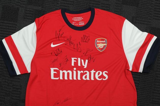 Win a Signed Arsenal Shirt from Bleacher Report UK's Fan Friday