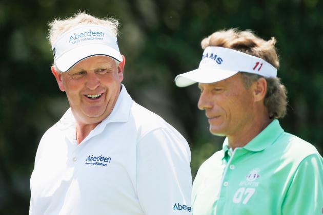 Bernhard Langer, Colin Montgomerie and Tom Watson in the Hunt at Senior PGA
