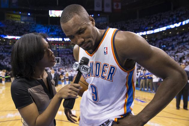 Report: It's Looking Likely That Serge Ibaka Will Play in Game 3 for OKC Thunder