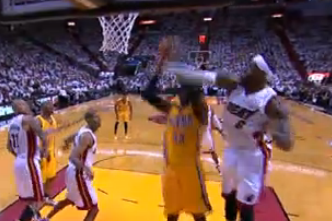 Roy Hibbert Throws Down Vicious Dunk Amid Multiple Miami Heat Defenders