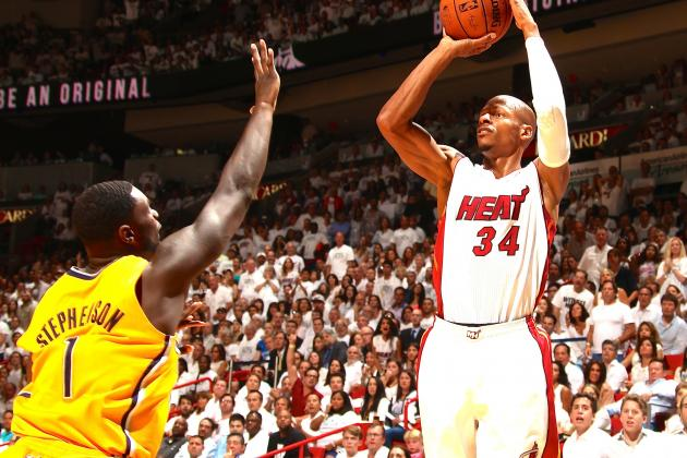 Super Sub Ray Allen Reminds Pacers He'll Always Be an Offensive Threat