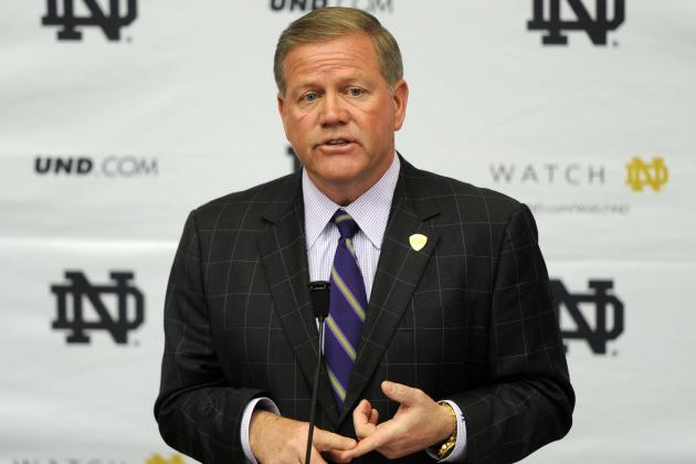 Brian Kelly Not Overwhelmed by Notre Dame Balancing Act