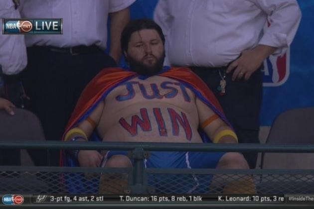 Thunder Bob: 'Just Win' Oklahoma City Thunder Fan Becomes Postseason Legend