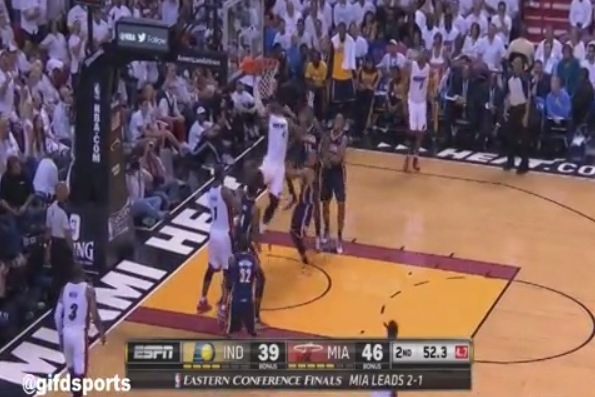 LeBron James Throws Down Monster and-1 Reverse Slam
