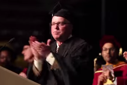 "Minnesota's Jerry Kill Showed off His ""Happy"" Dance at Graduation"
