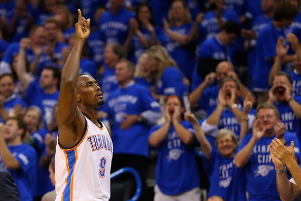 Serge Ibaka Returns to Thunder Lineup, Gives Team New Title Hope