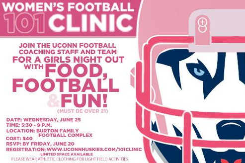 UConn to Host Women's Football Clinic in June
