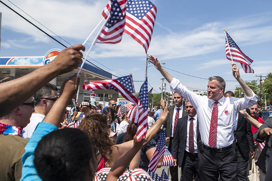 New York City Mayor Bill De Blasio Said the City Won't Bid to Host 2024 Olympics