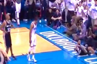 Russell Westbrook Goes Backdoor for Emphatic Dunk, Stares Down Cory Joseph