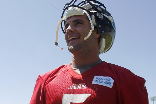 Jaguars Rookie Quarterback Blake Bortles Takes Part in First Practice