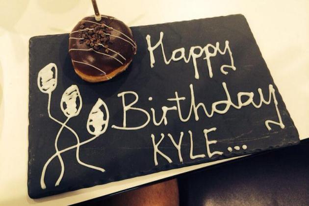 Kyle Walker Gets Birthday Doughnut from Tottenham, Teases Man City's Yaya Toure