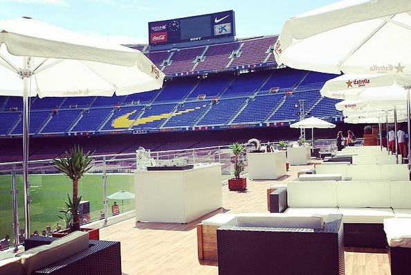 Barcelona Unveil Slick Camp Nou Lounge for Summer Visitors