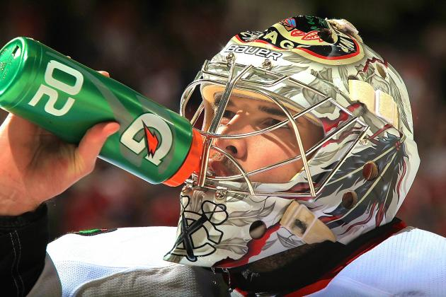 LAPD Denies Investigating Corey Crawford for Squirting Fan with Water