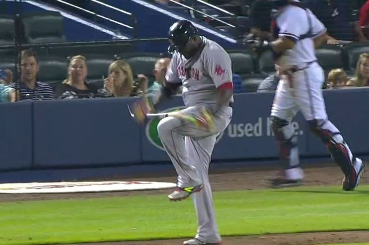 David Ortiz Breaks Bat over His Knee out of Frustration After Groundout