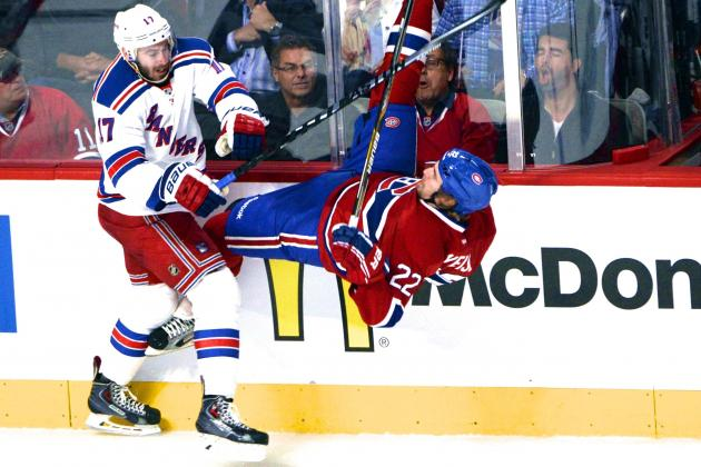 Rangers' John Moore Suspended 2 Games for Illegal Check on Dale Weise