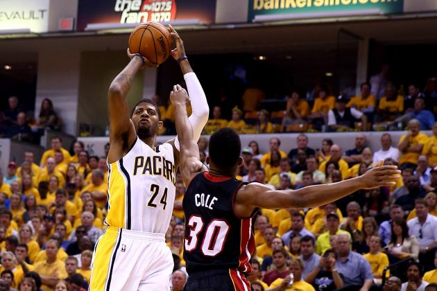 Paul George Discards Mario Chalmers, Hits Buzzer-Beater at End of Third Quarter