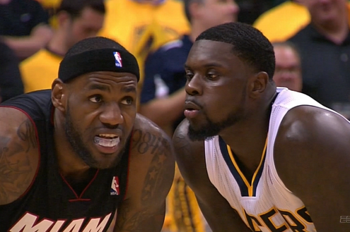 Lance Stephenson Blowing in LeBron James' Ear Set to Ginuwine's 'Pony'