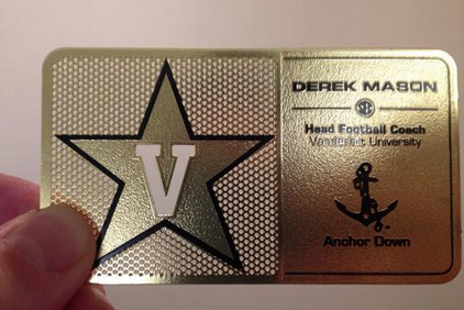 Vanderbilt Coach Has Awesome Gold Business Card
