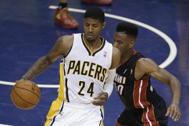 Pacers' Paul George Sets Playoff Scoring Record for Miami Heat Opponent