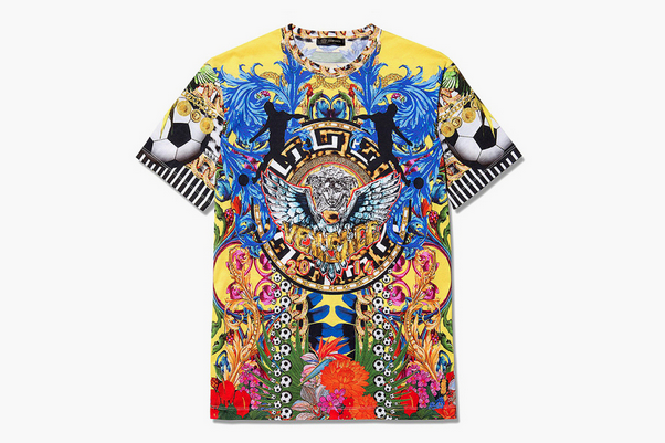 Versace T-Shirt Celebrating 2014 World Cup Is $690 and Very, Very Bright