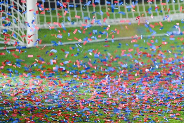 Eibar Celebrate Promotion with Confetti Barcelona Would Have Used for Liga Win