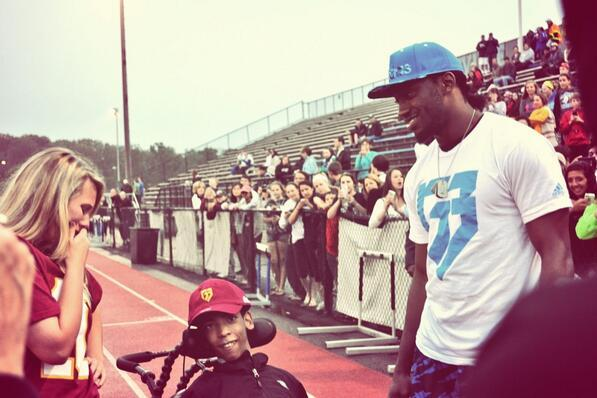 Robert Griffin III Shows Up to High School Lacrosse Game for Special Promposal