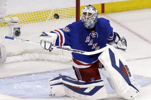 Rangers' Henrik Lundqvist Breaks Franchise Playoff Wins Record in Clincher